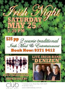 Irish Night May 25th 2013