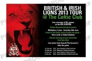 Lions Tour @ the Club