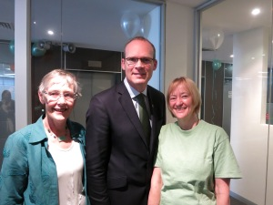 Tintean editors, Frances Devlin-Glass and Felicity Allen with Minister Simon Coveney