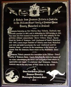A. plaque from Dromana Australia