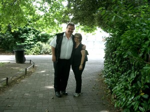 Simon and Gillian Hardy made a superb Bloom/Molly duo in many early Bloomsday productions, here pictured in Stephen's Green in 2004.