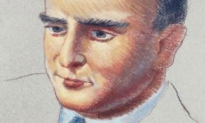 Flann O'Brien Portrait