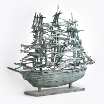 14-Behan-Coffin-Ship-Galway-bronze-unique-85x104x28cm