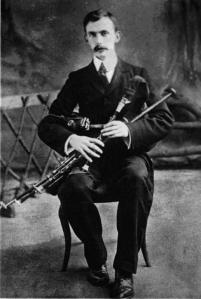 Eamonn Ceannt with pipes