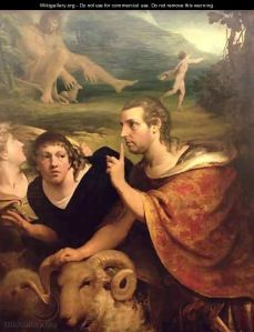 James Barry's portrait of Edmund Burke as Odysseus. Reproduced with the permission of the Crawford Art Gallery, Cork.