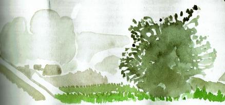 Mullingar in mist