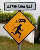 Irish Road Sign