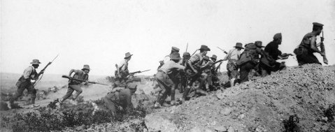 Scene_just_before_the_evacuation_at_Anzac._Australian_troops_charging_near_a_Turkish_trench._When_they_got_there_the.._960