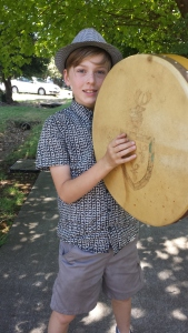 Quinn Hames, playing one of his many instruments