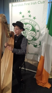 Quinland Hames, harpist.