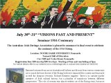 Perth Seminar to commemorate 1916