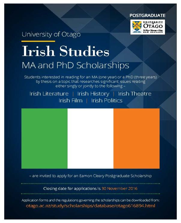 otago-irish-studies-ma-phd-poster