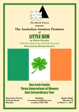 An Australian amateur première of an Irish play