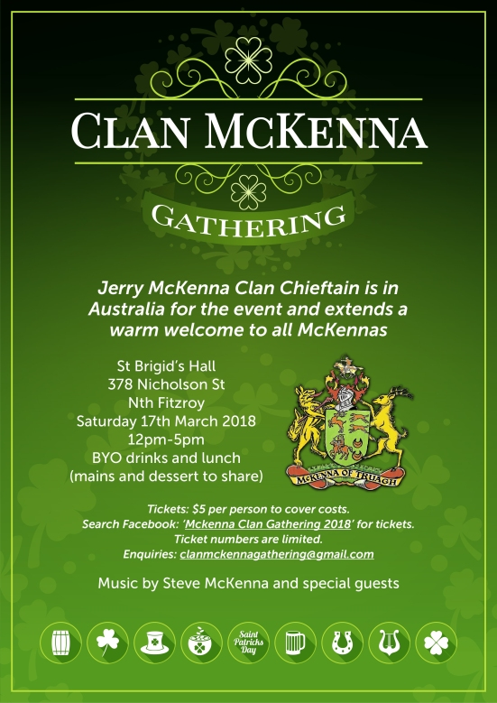 Clan McKenna gathering March 2018
